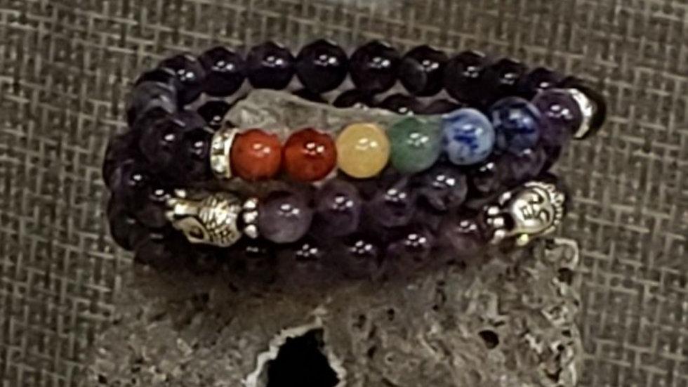 Amethyst w Buddha Bracelet
