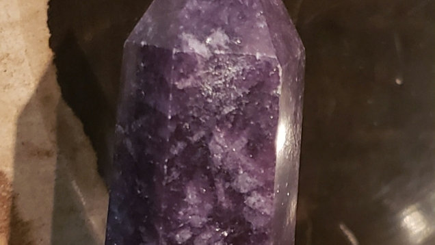 Lepidolite tower 24