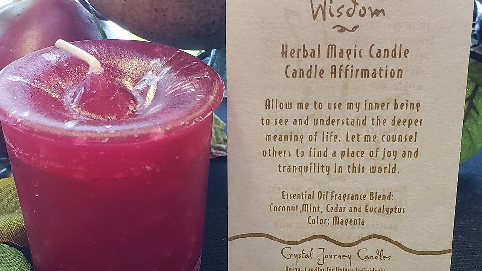 Wisdom-Herbal Votive Candle