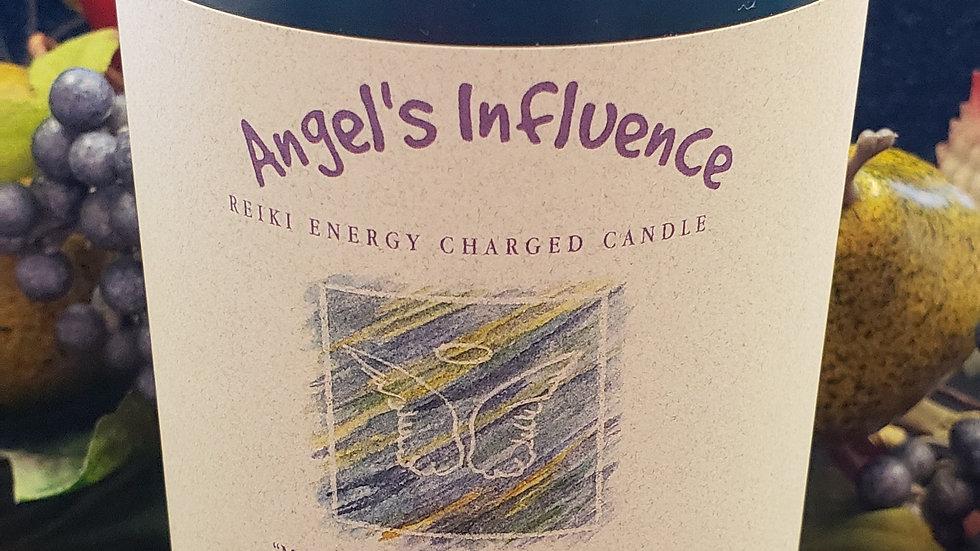 "Angel's Influence - Herbal Pillar 3""x6"" Candle"