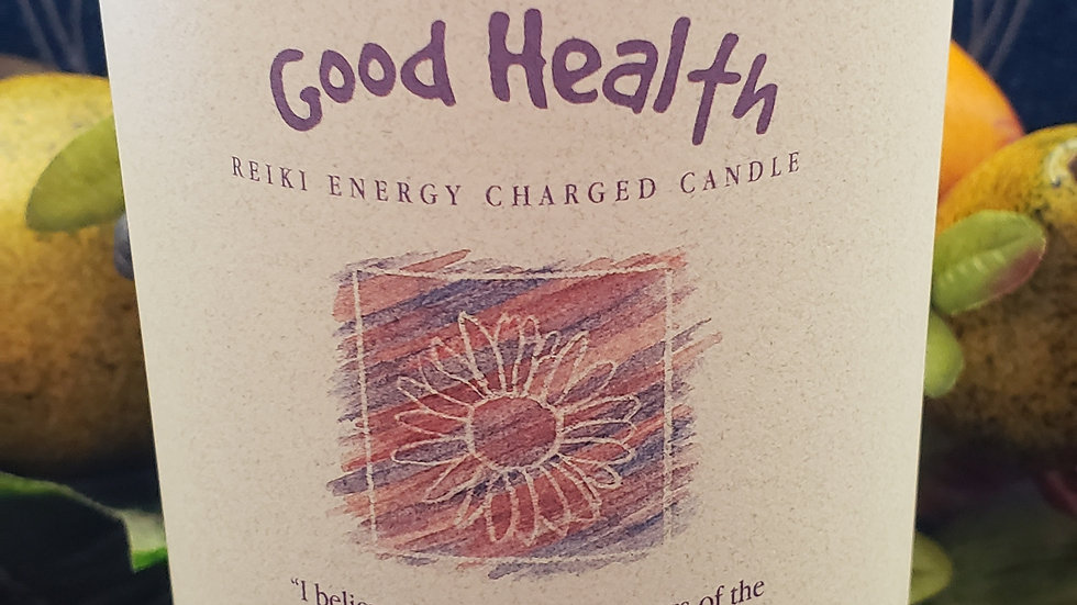 "Good Health - Herbal Pillar 3""x6"" Candle"
