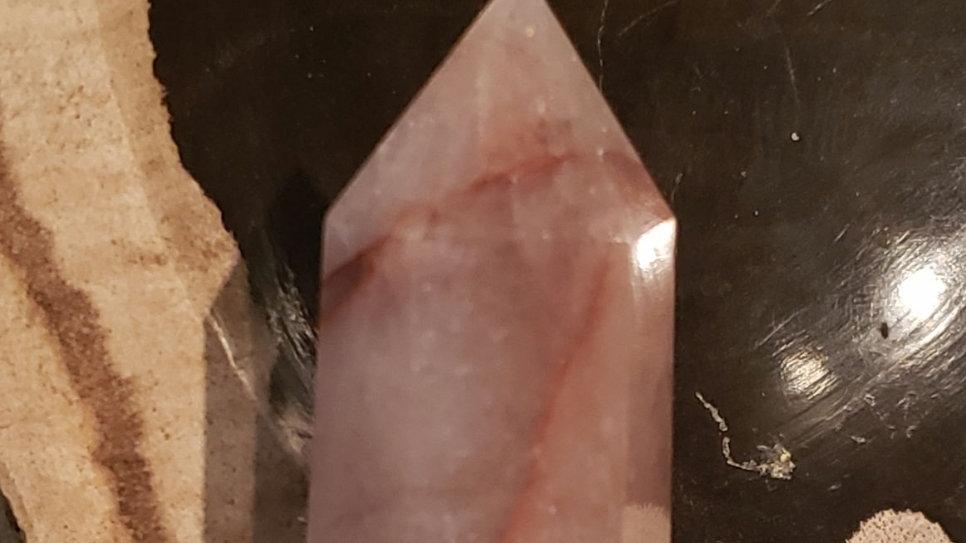 Red hematoid quartz tower 18