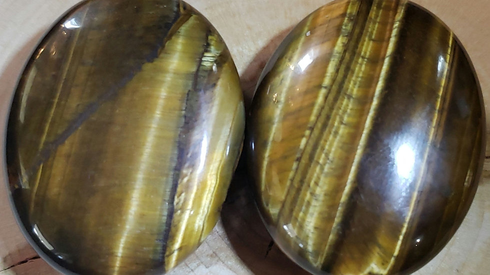 Golden Tigers Eye Palm Stone