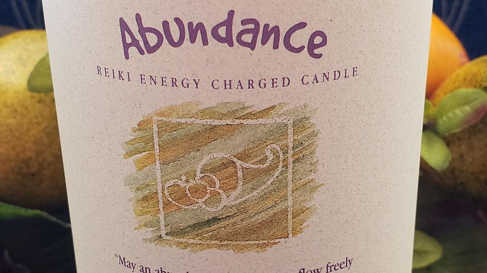 """Abundance - Herbal Pillar 3""""x6"""" Candle"""