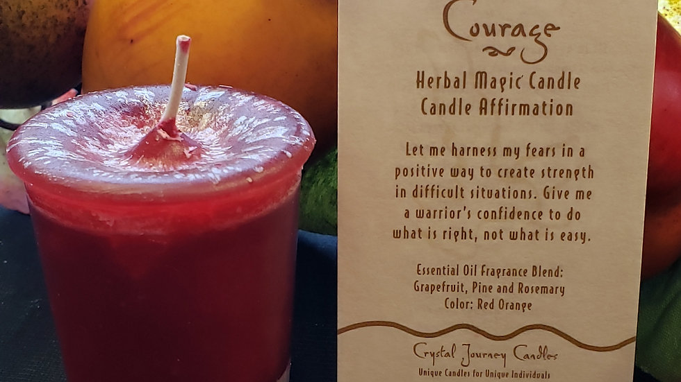 Courage Herbal Votive Candle