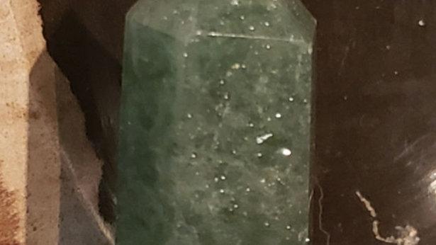 Green Strawberry quartz tower