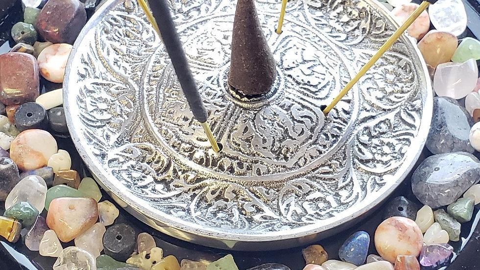Metal Tibetan Round