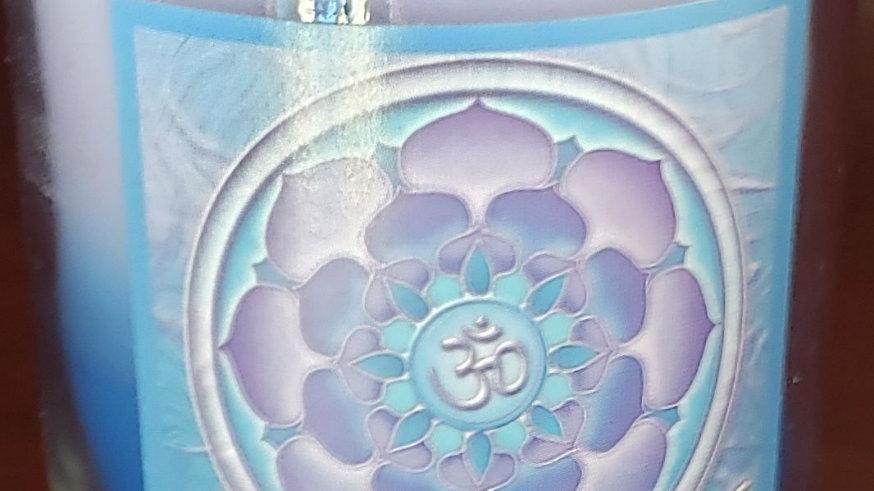 Soy Mandala Glass Votive - Aum Lotus Illumination