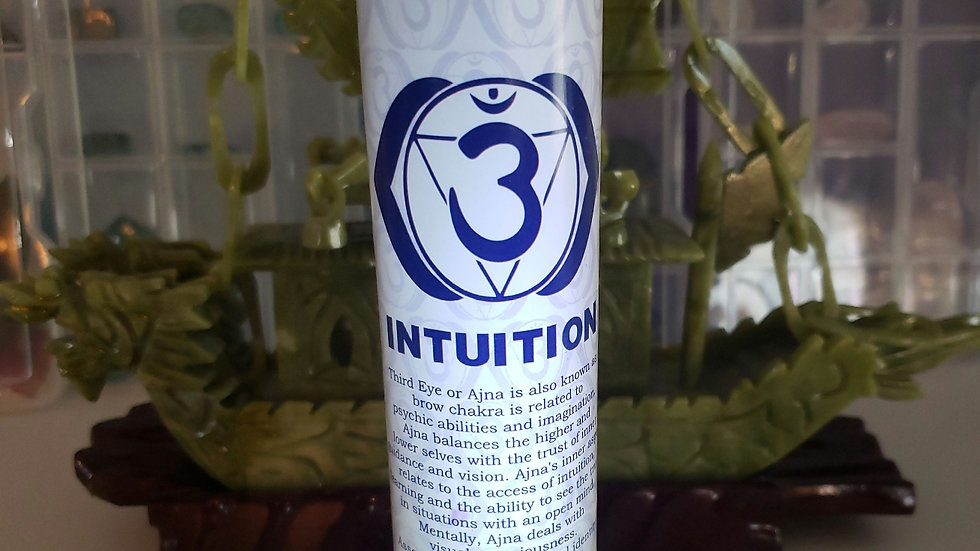 "Third Eye Chakra Pillar 1""x6"" Candle"