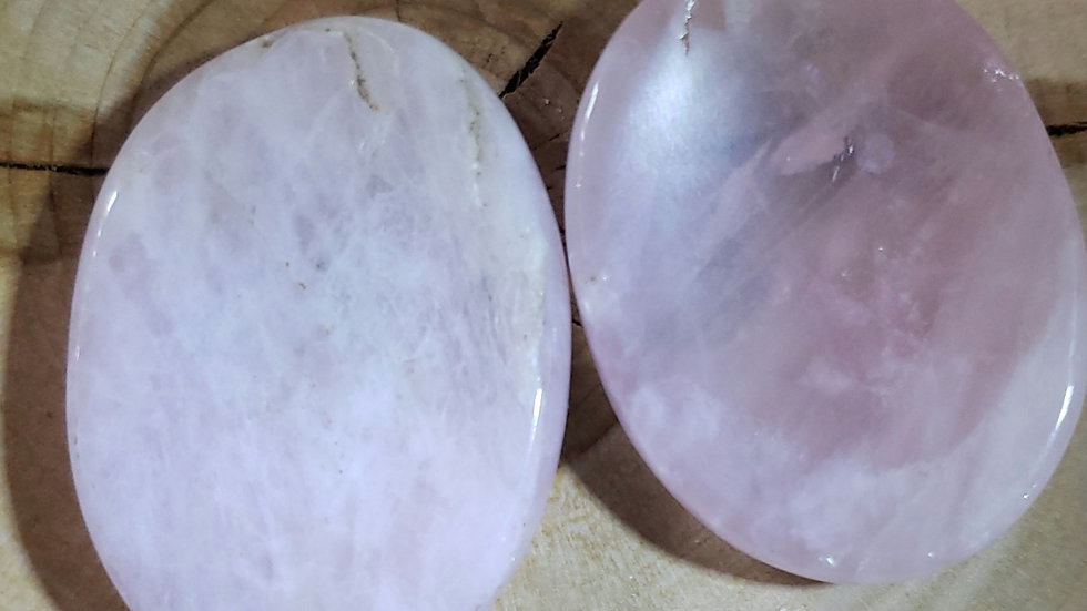 Rose Quartz Worry Stone