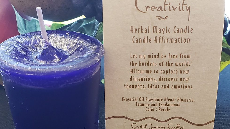 Creativity Herbal Votive Candle
