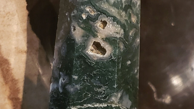 Moss agate tower 26