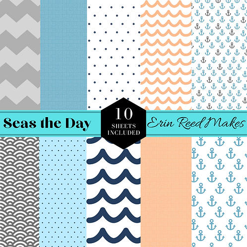"""""""Seas the Day"""" Digital Paper Pack"""