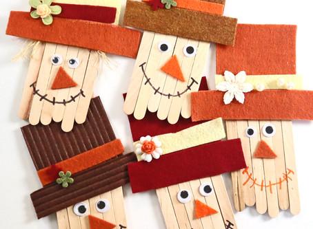 Craft Stick Scarecrow - EASY KIDS CRAFTS