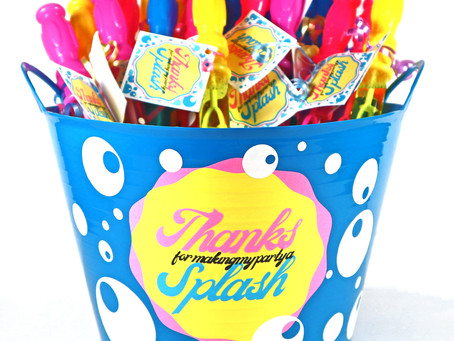 Bubble Wand Party Favors & Decorated Bucket