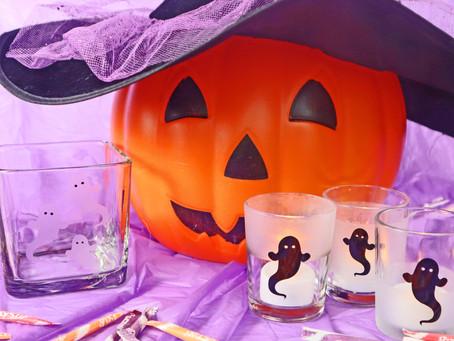 Dollar Store Etched & Vinyl Halloween Glassware