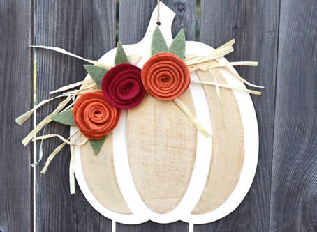 Dollar Tree Wooden Pumpkin Decor
