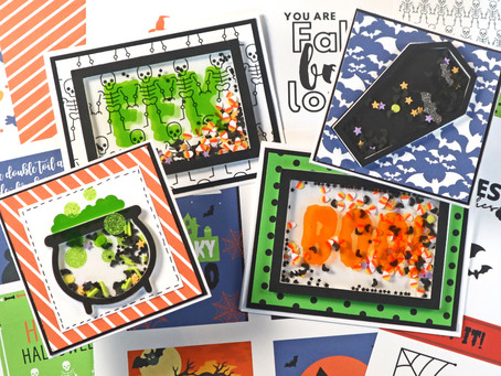 Halloween Shaker Cards with Vinyl