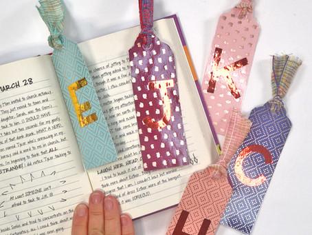 DIY Personalized Vinyl Bookmarks