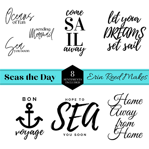 """""""Seas the Day"""" Digital Stamps & Cut Files"""