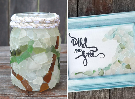 Mosaic Sea Glass Art Ideas