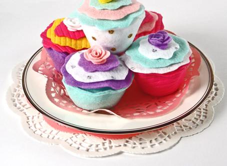 Cutie Stuffed Felt Cupcakes