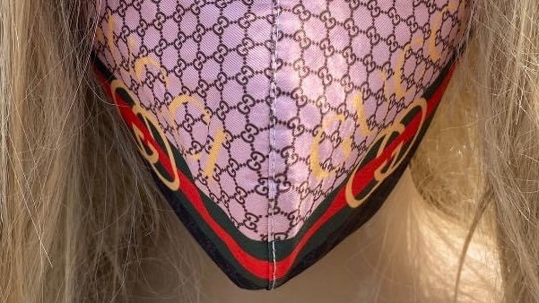 Gucci Black Red Gold Mask