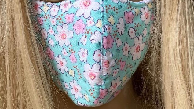 Paisley floral Green mask