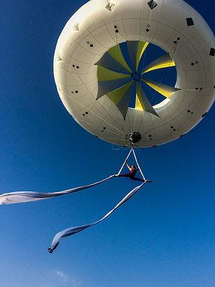 ballon hélium, tissu aérien, Tatiana Thomas