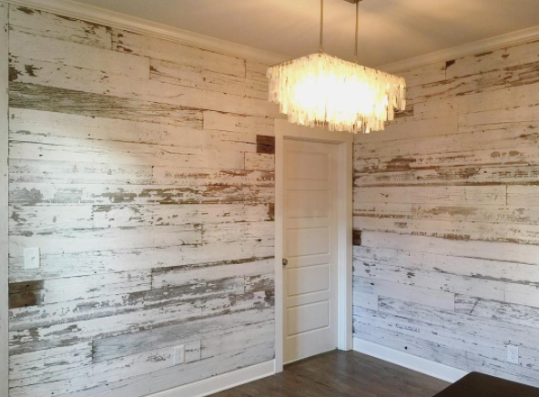 Chippy White Wood Wall