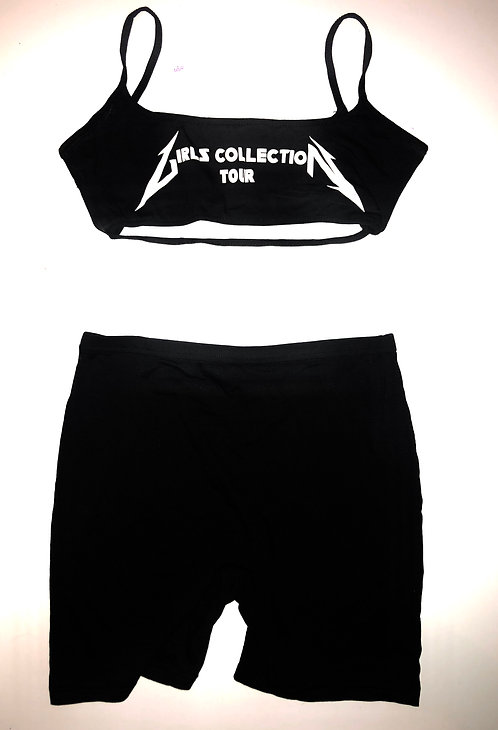 Girlz Collection Summer Set (Crop Tank & Biker Shorts)