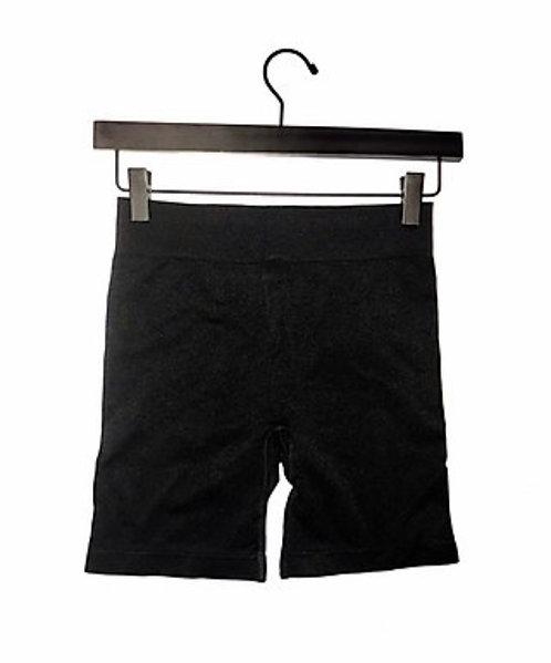 Black Seamless Biker Shorts