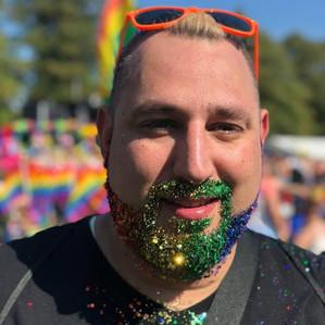 Leicester Pride 2018 - glitter beard