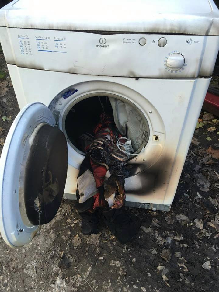 burnt out tumble dryer