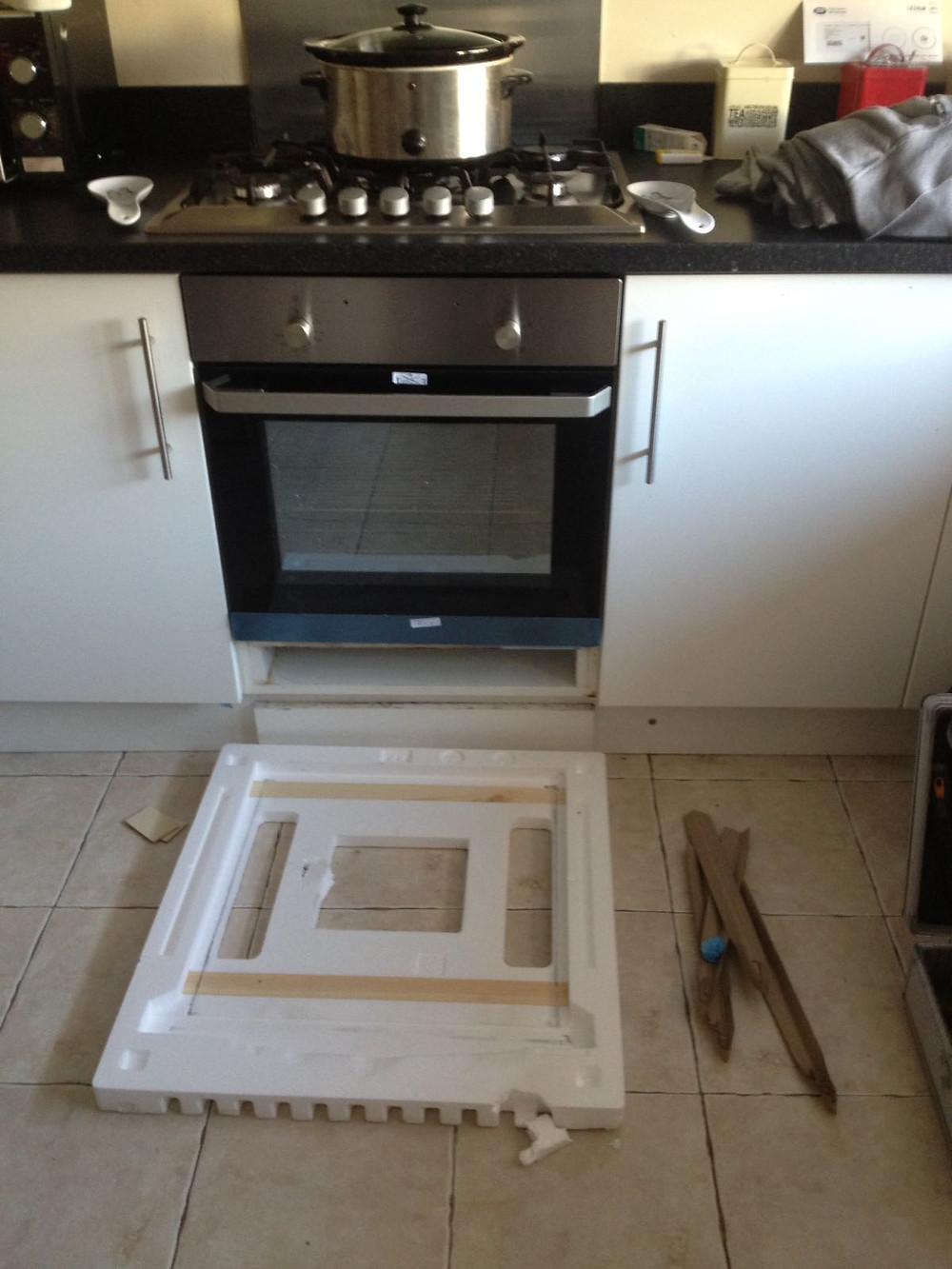 Built in oven installation