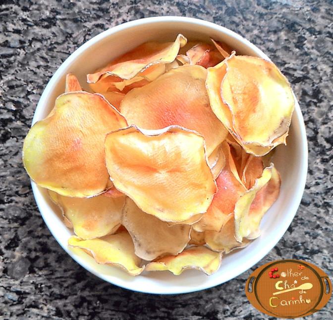 Batata Chips sem óleo
