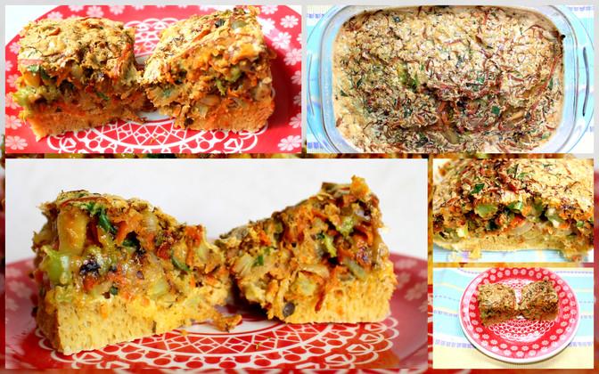 Torta Salgada de Legumes com Tapioca