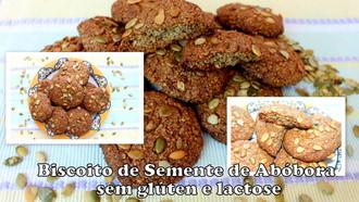 Biscoito de Semente de Abóbora sem Glúten e Lactose