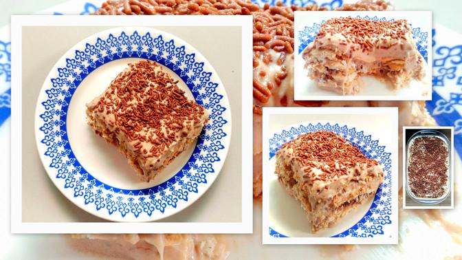 Torta de Bolacha Cremosa