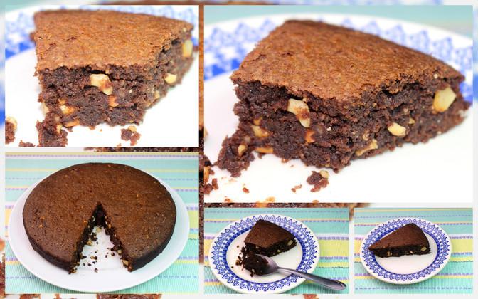 Brownie Molhadinho com Castanha de Caju