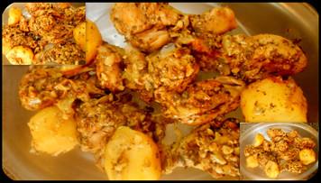 Coxas de frango assadas