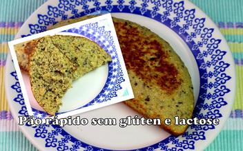 Pão Rápido na Omeleteira sem glúten e lactose