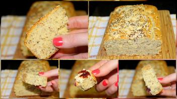 Pão de liquidificador com iogurte zero lactose e sem glúten