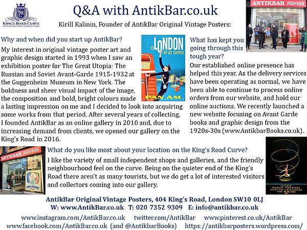 Q&A AntikBar Original Vintage Posters _