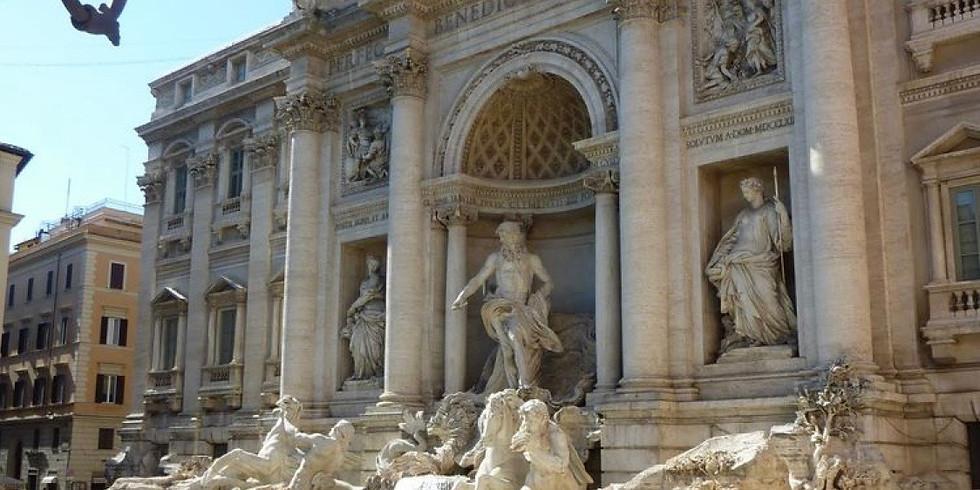 Santorini, Greece and Rome, Italy