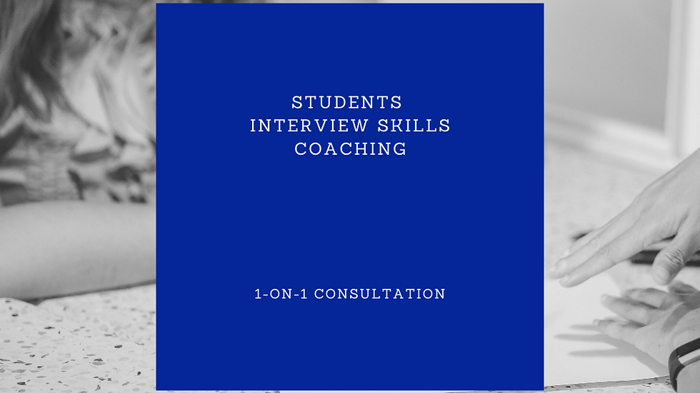 Students Interview Skills Coaching - 2 hours