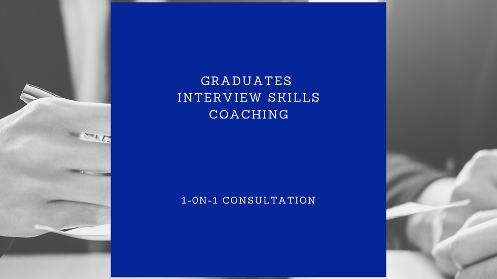 Graduates Interview Skills Coaching - 2 hours
