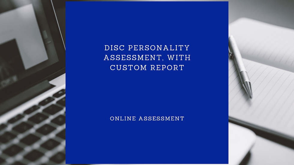 DISC Personality Assessment, with custom report
