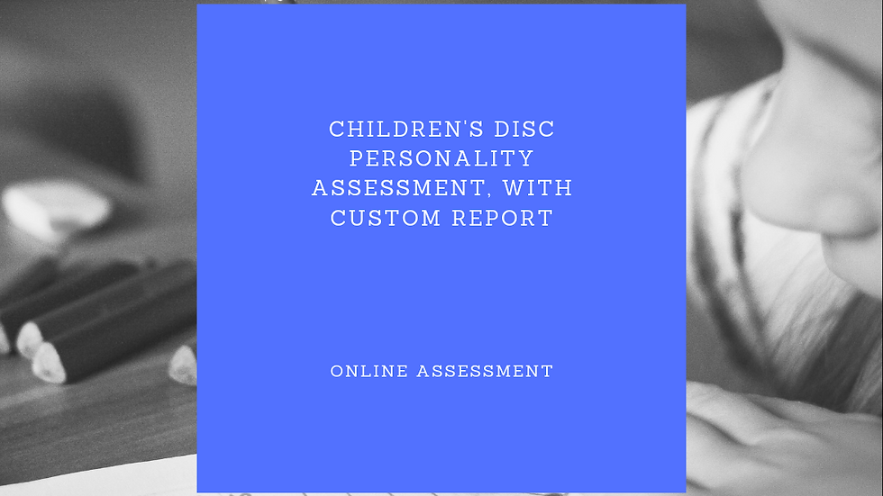 Children's DISC Personality Assessment with Custom Report