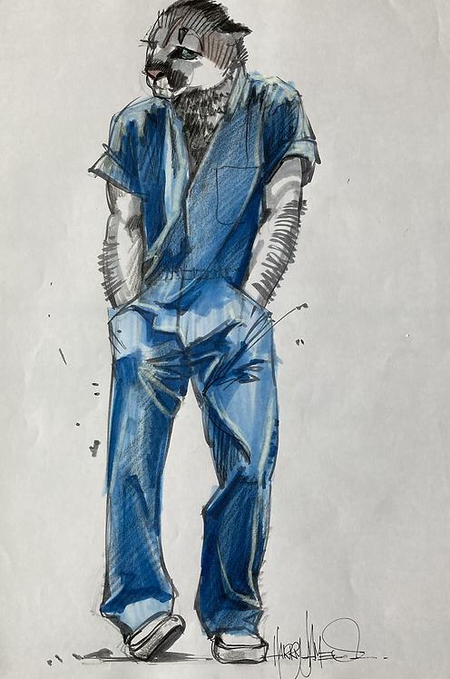 Puma en bleu de travail - Original
